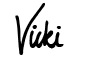 Vicki signature